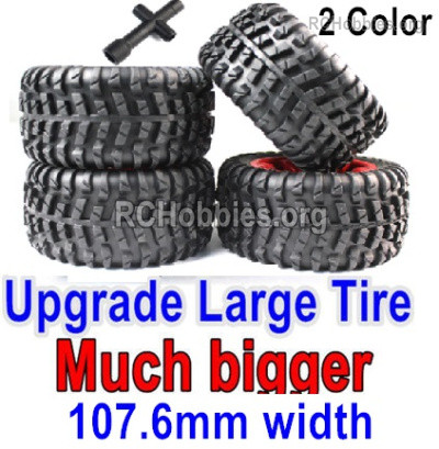 Subotech BG1525 Upgrade Large Wheel Tires Parts for BG1525 BG1513 BG1518 Car. It has Two-color you can choose. Red or Green Color.